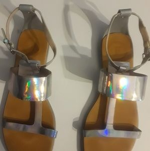 Silver French Connection Sandals Size 8.5
